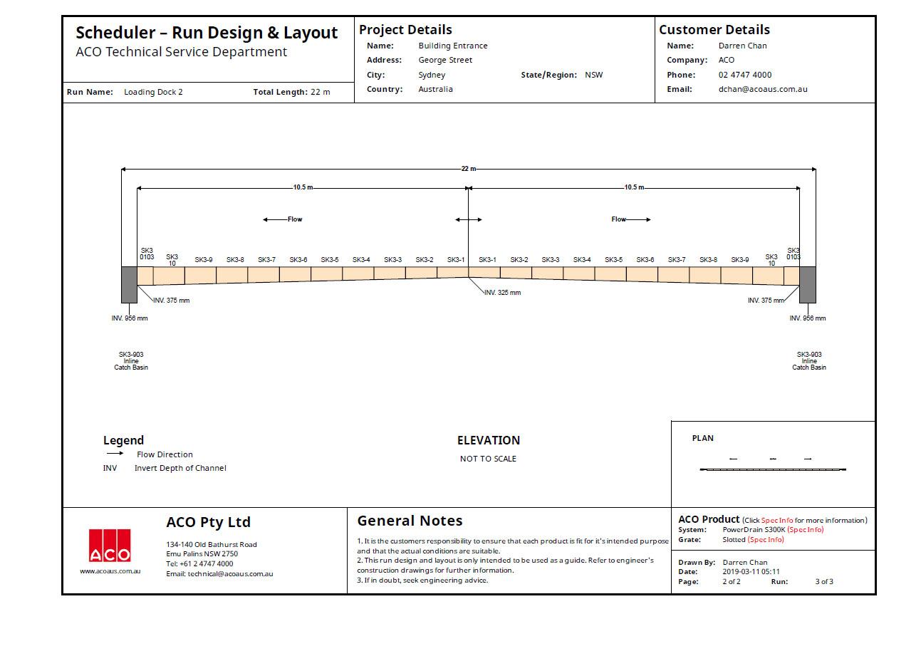 Scheduler Run Design And Layout
